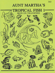 Aunt Martha's® Embroidery Transfer Pattern #360 Tropical Fish