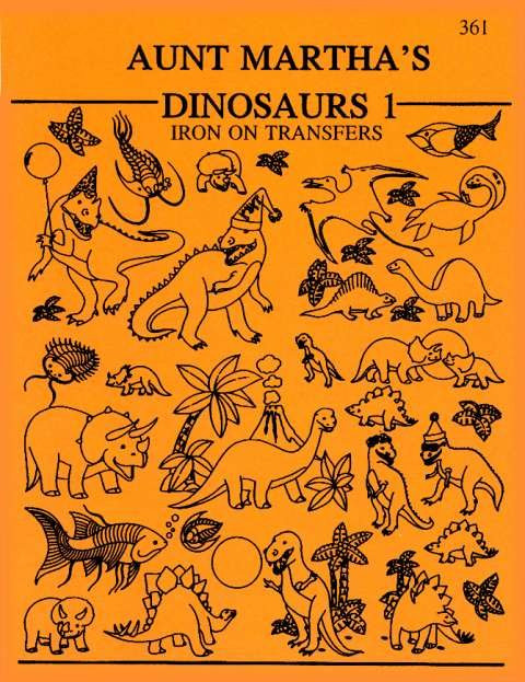 Aunt Martha's 60 Dinosaurs Colonial Patterns Inc Stunning Colonial Patterns