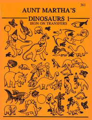Aunt Martha's® Embroidery Transfer Pattern #361 Dinosaurs