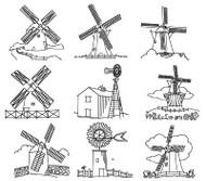Aunt Martha's #4000 Windmills