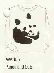 Panda and Cub Iron-on Transfer Pattern