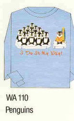 Penguins Iron-on Transfer Pattern