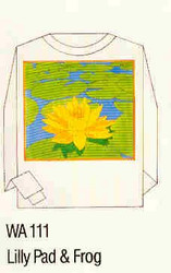 Lilly Pad & Frog Iron-on Transfer Pattern