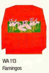 Flamingos Iron-on Transfer Pattern