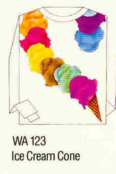 Ice Cream Cone Iron-on Transfer Pattern