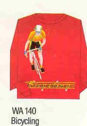 Bicycling Iron-on Transfer Pattern