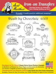 Aunt Martha's Embroidery Transfer Pattern #4005 Death by Chocolate