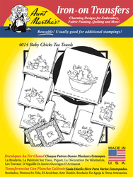 Aunt Martha's Embroidery Transfer Pattern #4014 Baby Chicks