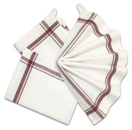 Retro Box Stripe Towels (MAROON)