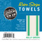Aunt Martha's Retro Bold Twill Kelly Green Stripe Dishtowels