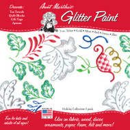 5-Pack Glitter Paint Kit (Holiday Colors)