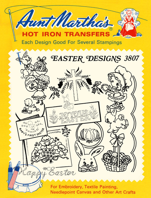 Aunt Martha's Embroidery Transfer Pattern #3807 Easter Designs