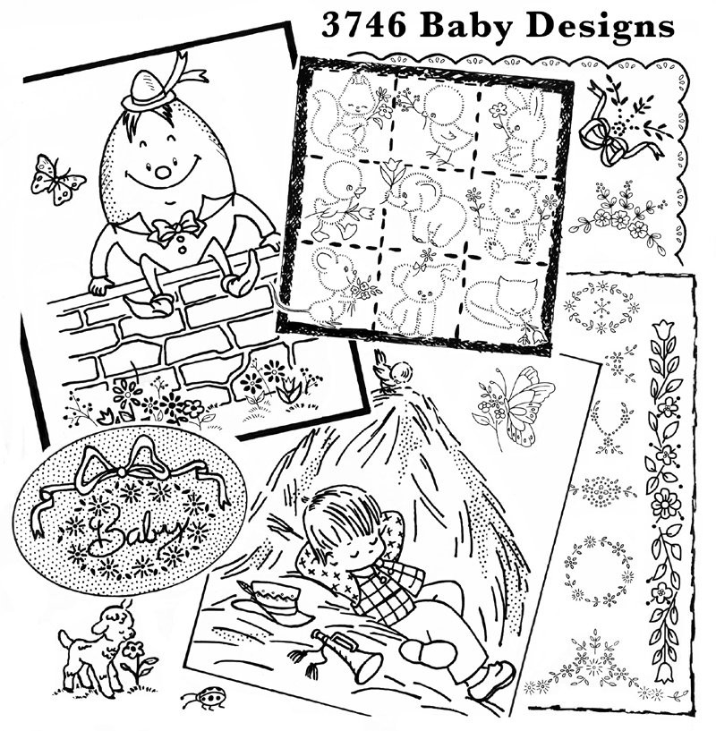 Aunt Martha's 60 Baby Designs Colonial Patterns Inc Gorgeous Colonial Patterns