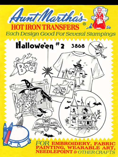 Aunt Martha's Embroidery Transfer Pattern #3868 Halloween #2