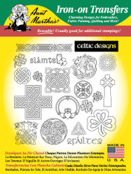 Aunt Martha's Special Edition Hand Stitch Embroidery Transfer Pattern - Celtic Designs