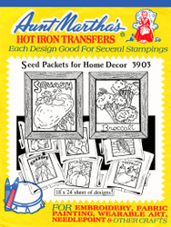 Aunt Martha's Embroidery Transfer Pattern #3903 Seed Packets