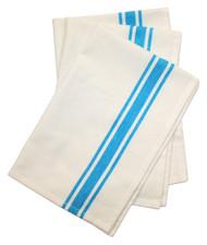 Aunt Martha's Stitch 'Em Up Retro Bold Twill Turquoise Stripe Towels