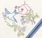 Aunt Martha's Embroidery Transfer Pattern #3159 Delightful Bluebird Motifs