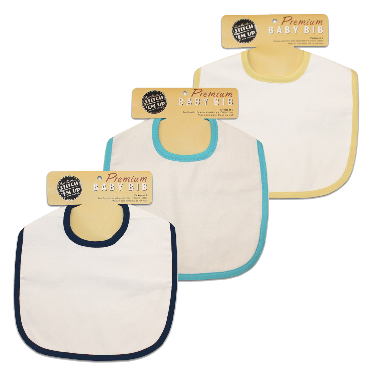 Aunt Martha S Stitch Em Baby Bibs For Embroidery