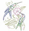 Aunt Martha's Embroidery Transfer Pattern #4035 Charming Hummingbirds