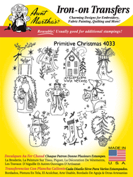 Aunt Martha's Embroidery Transfer Pattern #4033 Primitive Christmas
