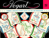 Embroidery Transfer Pattern Vogart #237 Cheerful, Animated Kitchen Motifs