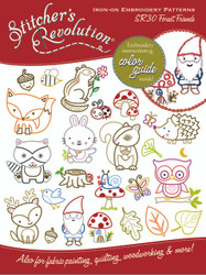 SR30 Stitcher's Revolution Embroidery Transfer Pattern Forest Friends