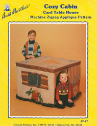 Aunt Martha's Cozy Cabin - Card Table House - Applique Pattern