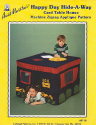 Aunt Martha's Happy Day Hideaway - Card Table House - Applique Pattern