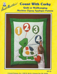 Aunt Martha's Count With Corky - Quilt or Wallhanging - Applique Pattern