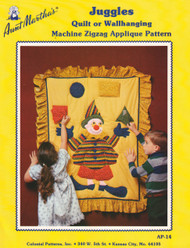 Aunt Martha's Juggles - Quilt or Wallhanging - Applique Pattern