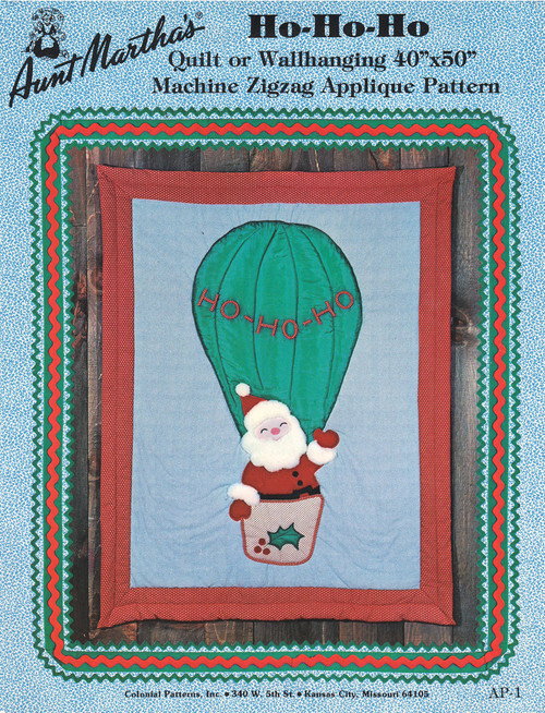 Aunt Martha's Ho Ho Ho - Quilt or Wallhanging - Applique Pattern