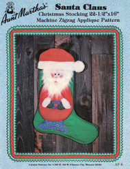 Aunt Martha's Santa Claus - Christmas Stocking - Applique Pattern