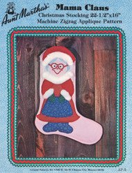 Aunt Martha's Mama Claus - Christmas Stocking - Applique Pattern