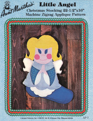 Aunt Martha's Little Angel - Christmas Stocking - Applique Pattern