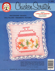 ColorTex Chicken Scratch Embroidery Kit - Pin Cushion or Doll Pillow