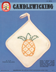 ColorTex Candlewicking Embroidery Kit - Pineapple Hot Pad