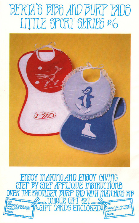 Berta's Bibs & Burp Pads - Little Sport Series 6 - Applique Pattern
