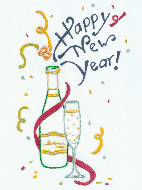 Aunt Martha's Embroidery Transfer Pattern Special Edition - Happy New Year