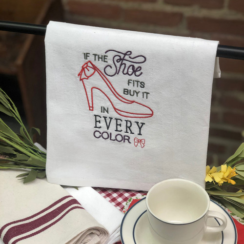 Aunt Martha's Dirty Laundry Embroidered Flour Sack Dishtowel