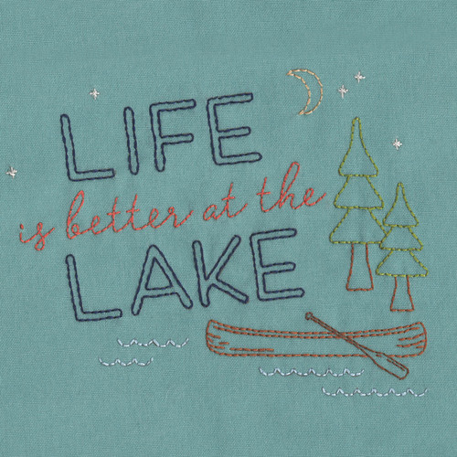 Aunt Martha's Special Edition Embroidery Transfer Pattern - Life is Better at the Lake