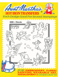 Aunt Martha's #3888 Cherubs hand embroidery transfer pattern