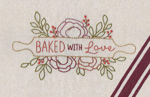 Aunt Martha's Hand Embroidery Iron-on Transfer Pattern - Baked with Love