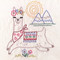 SR31 Llama Drama Stitchers Revolution hand stitch embroidery transfer pattern