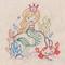 SR32 Mermaid Wishes Stitchers Revolution hand stitch embroidery transfer pattern