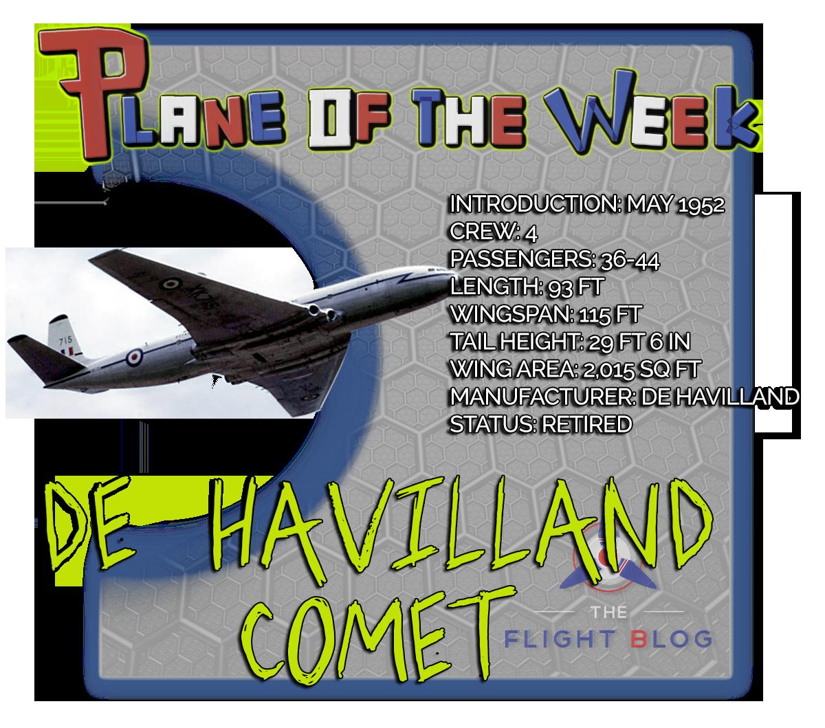de Havilland Comet, comet plane specs, first jet, first commercial jet