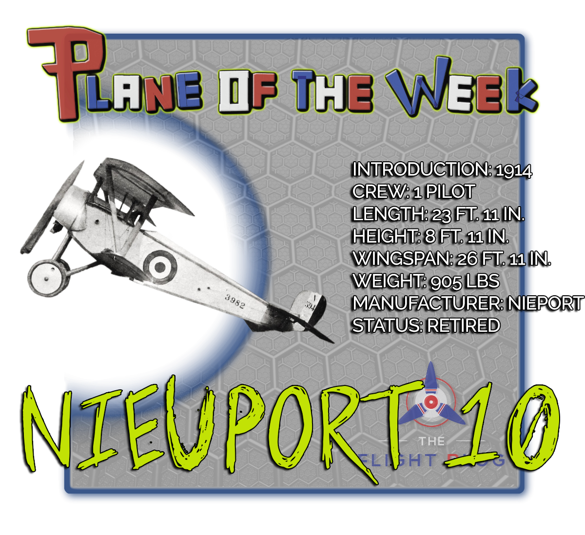plane of the week, the flight blog, nieuport 10, wwI aircraft, reconnaissance plane