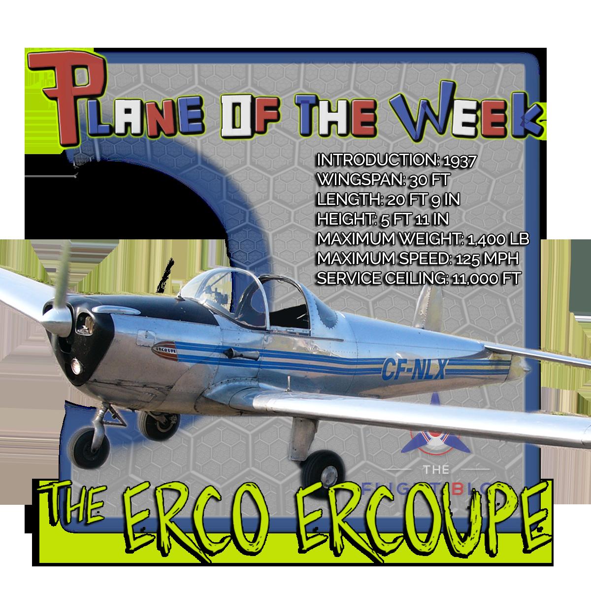 Plane of the week, erco, erco ercoupe, erco ercoupe plane specs
