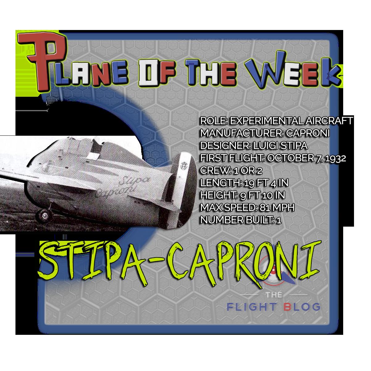 stipa-caproni, stipa caproni, experimental aircraft, plane specs, italian aircraft