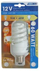 Camco Light Bulb 12V-15W Fluorescent(15W Fluor = 60W Incandescent)